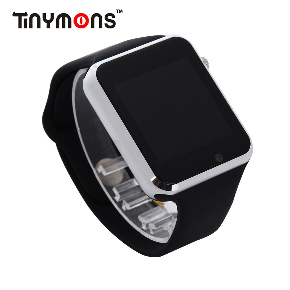 Tinymons A1 WristWatch Bluetooth Smart Watch Sport Pedometer With SIM Camera Smartwatch kids phone watch For Android Smartphone цена