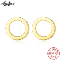 Simple Round Real 14K Gold Stud Earrings for Women Fine Jewelry Yellow Gold Earrings