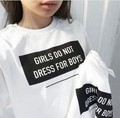 Las niñas no tumblr de vestir para niños camiseta atractiva de las mujeres t shirt tops graphic tees camisetas