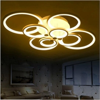 LukLoy Remote Control Modern LED Ceiling Lights Dimming Living Room Bedroom Led Ceiling Lamp Deckenleuchten Luminarias