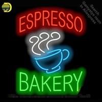 NEON BURCU Espresso Fırın GERÇEK CAM BIRA BAR PUB Kulübü Kahve Odası ekran Restoran Tabela Dükkanı Işık Işaretleri Baskı kurulu