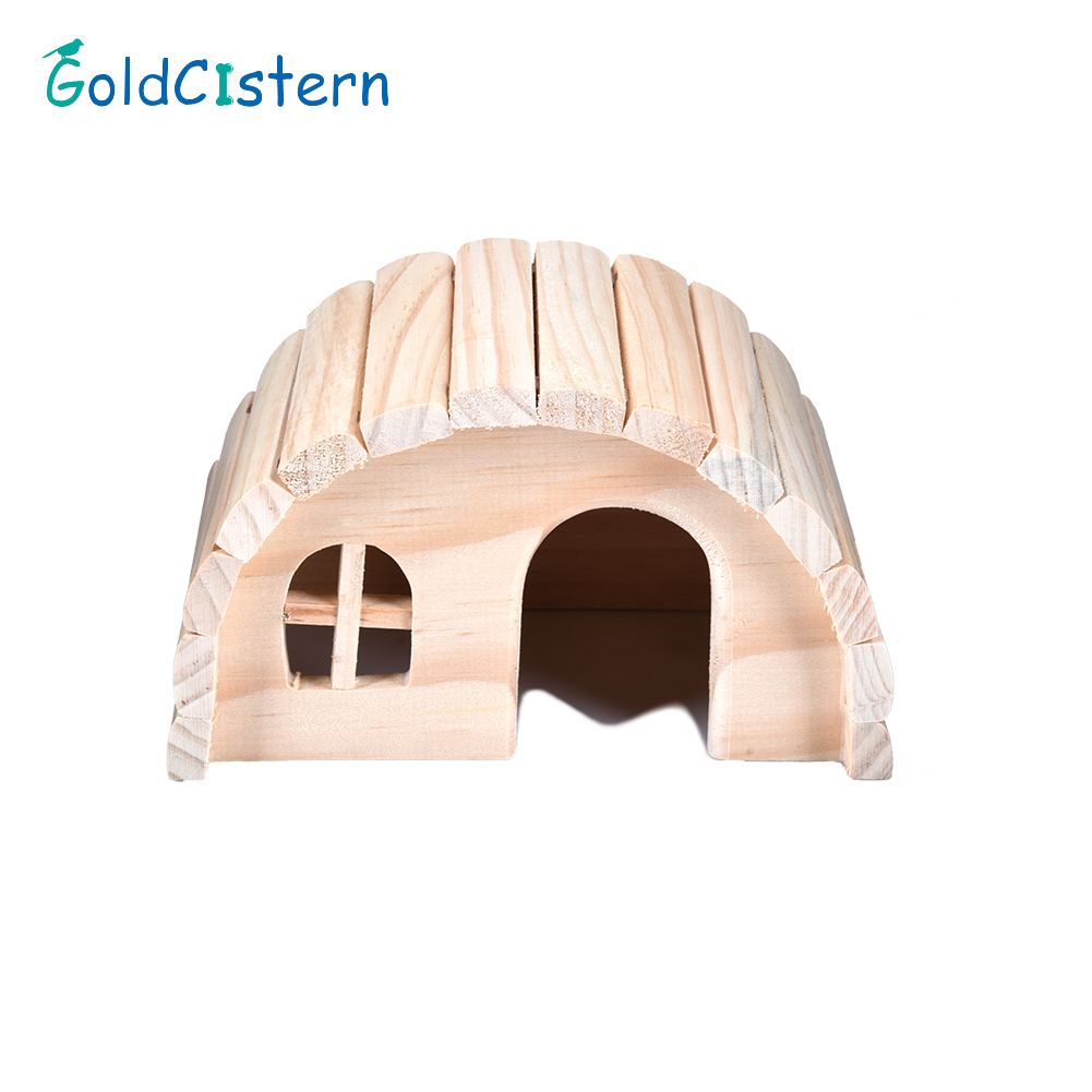 1pcs font b Pet b font Wooden Exquisite House Lovely Natural Chew Toys for Little Hamsters