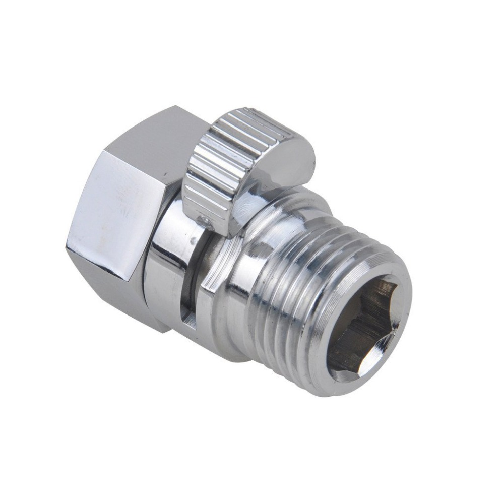 Hot Sale High Quality All Copper Chrome Shower Heads Fast Switching Through The Shut Off Valve Hose Flow Throttle Valve Seal