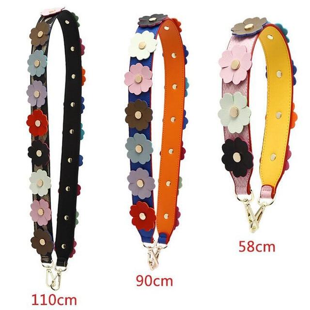 Flower Leather Shoulder Strap You Replacement Women Girls Bag Handle Strap Belt Shoulder Bag Parts Accessories Buckle Belts