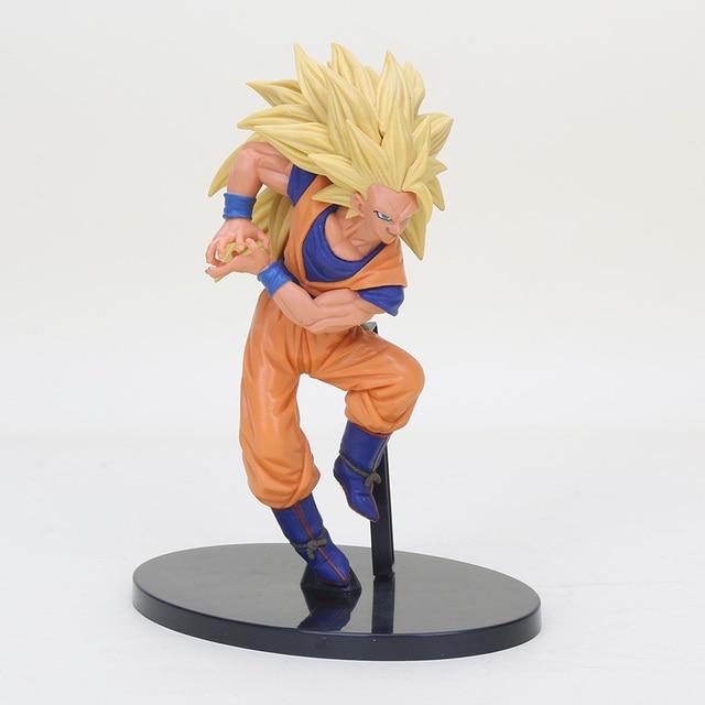 5 pcs Anime Dragonball Dragon Ball Z Budokai 6 3 Sol Son Goku super saiyan figuras de ação gesto de explosão de Gás goku brinquedo