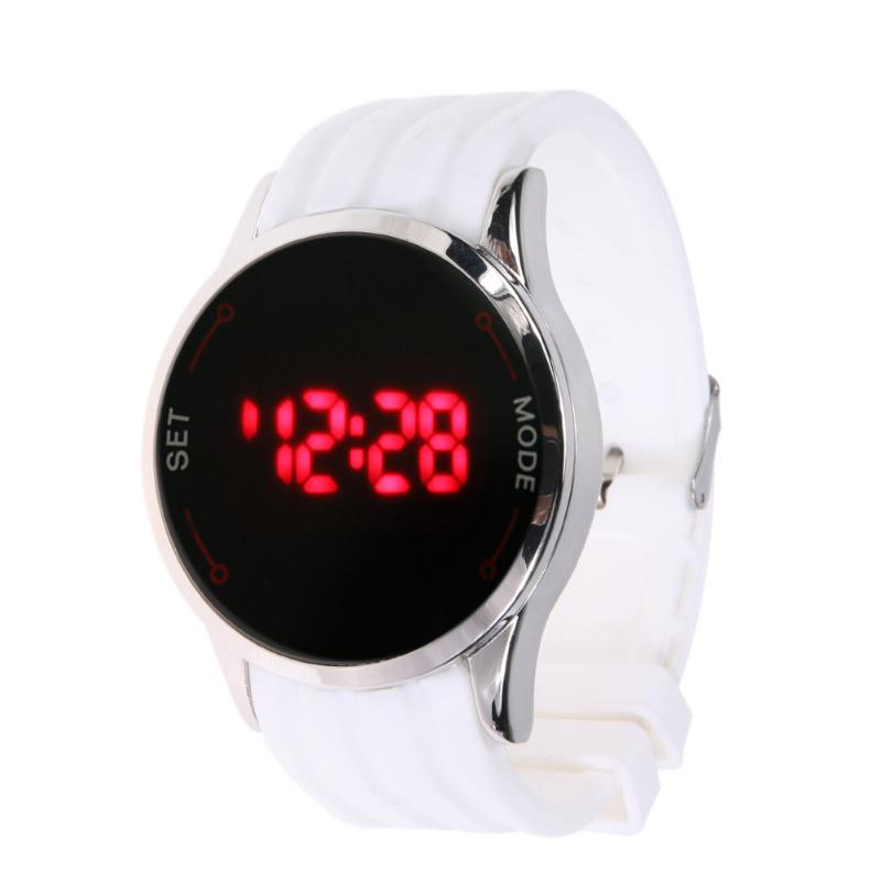 Digital Wristwatches Fashion Touch Screen LED Display Women Men Silicone Watch Candy Color