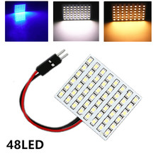 48 SMD Blue,White,Warm white Panel led car T10 BA9S Festoon Dome Interior Lamp w5w c5w t4w bulbs Car Light Source parking 12V