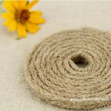 Wholesale(6mm,12yards/lot) 3 twiner decoration  rope Diy Natural Hemp Rope cord,Flax Rope,Jute Cord,kraft string