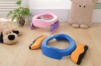 Mavi Renk pembe Bebek Seyahat Lazımlık Sandalye 2 in 1 Koltuk Çocuklar Rahat Taşınabilir Tuvalet Yardımcısı İşlevli Çevre Dostu Dışkı