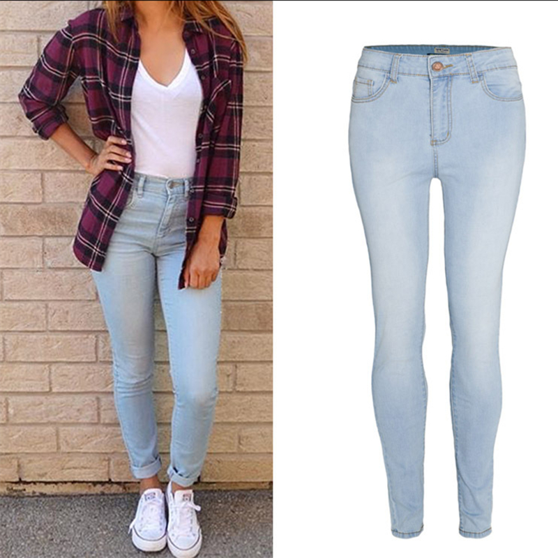 Popular Bleached Jeans Women-Buy Cheap Bleached Jeans Women lots ...