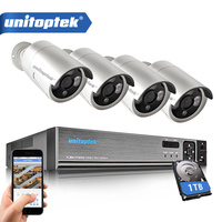 4CH CCTV System 720P HDMI AHD CCTV DVR Weatherproof 1280TVL Outdoor 1 0MP Security Camera Kit