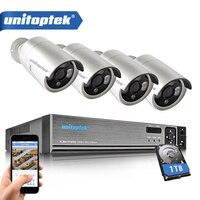 4CH CCTV Système 720 P HDMI AHD CCTV DVR Intempéries 1280TVL Extérieure 1.0MP Caméra de Sécurité Kit 3 Pcs LED Array Système de Surveillance