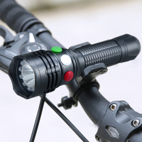 Three light colors 12 LED lamp bead 3000 LM Multifunction Bike light You can switch freely Red/Green or White light color