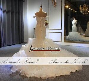 Image 5 - Volledige Kralen Mermaid Trouwjurk Nieuwe Model Designer Amanda Novias