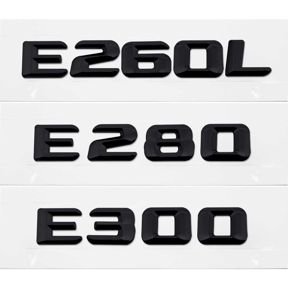 Rear Lid Emblem Badge Number Words Letters Sticker For Mercedes-Benz E-Class E260L E280 E300 W110 W114 W115 W123 W124 W210 W211