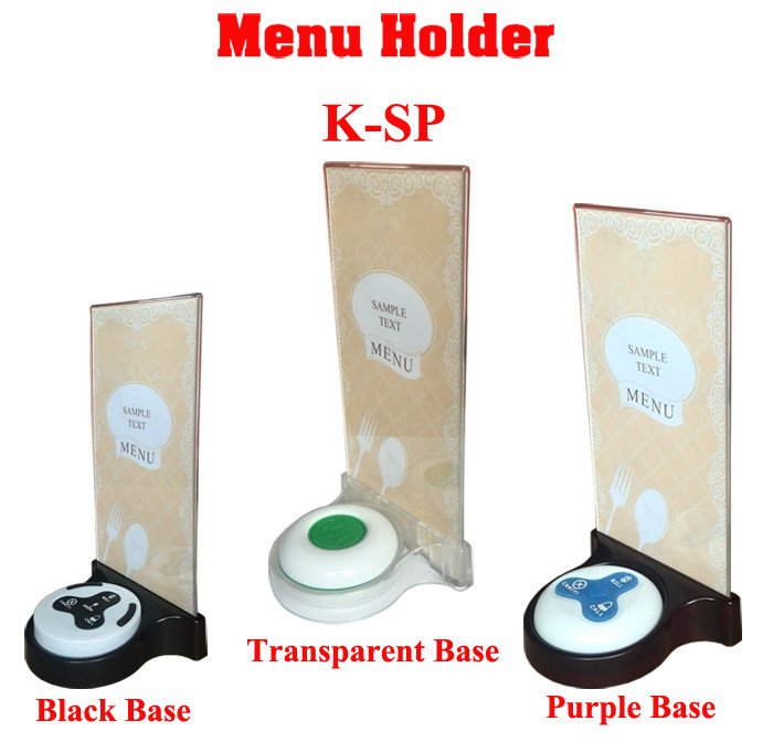 K-SP 3 colors Restaurant table menu holder base
