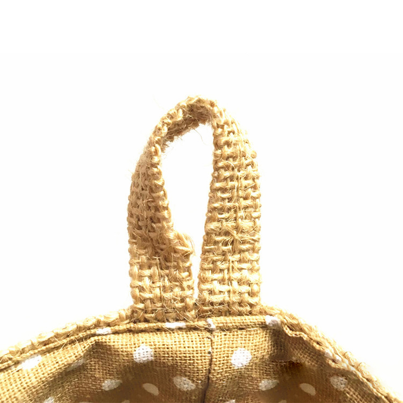 Image 5 - Home Decor Hanging Pocket Storage Basket Small Sack Sundries Organizer Cosmetic Organizer Cotton Linen Storage Bag-in Storage Baskets from Home & Garden