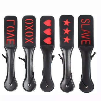 Black and Red Printed Sex Paddle