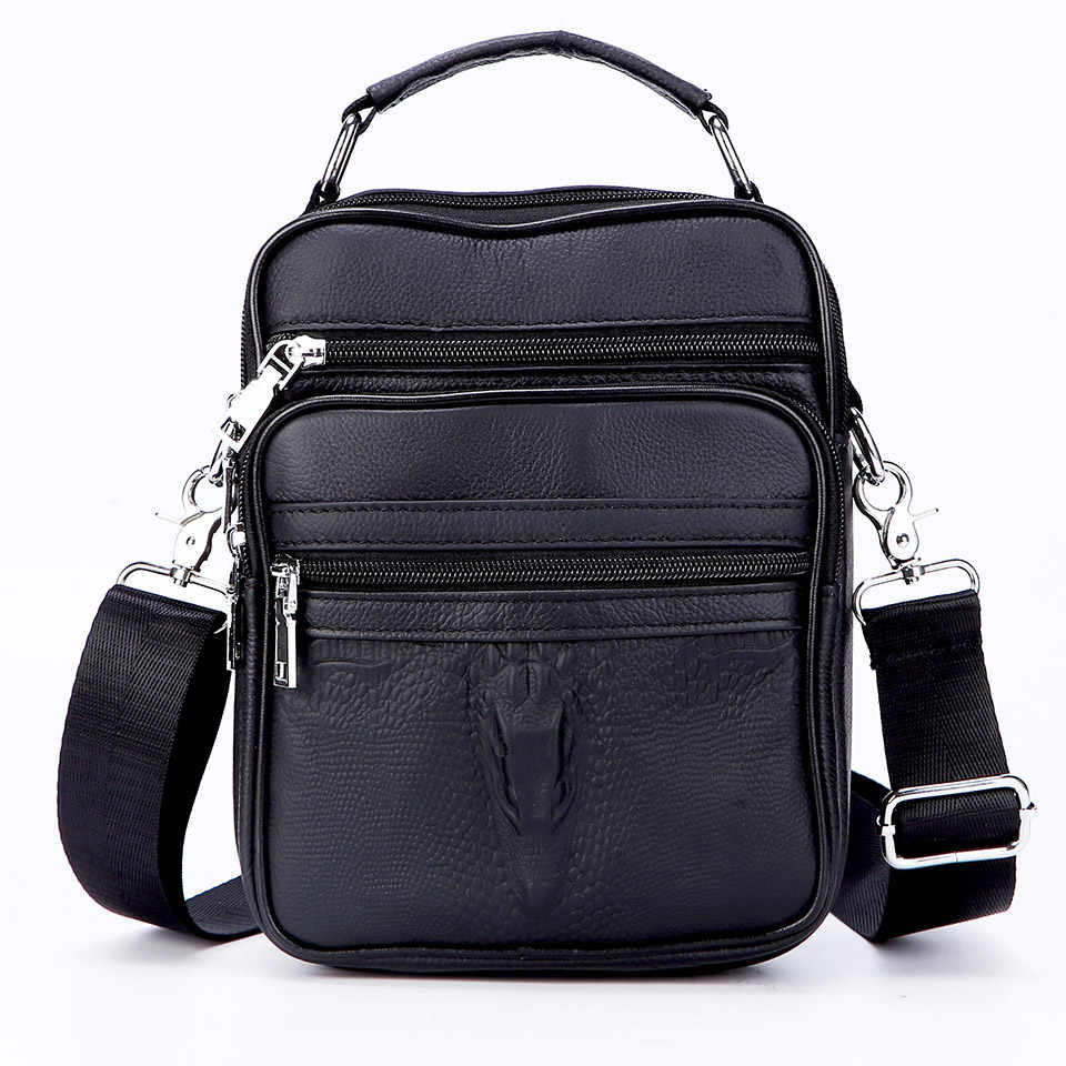 Men Small Genuine Leather Briefcase Male Leather Travel Totes Young Boy Handbags Leather Messenger Bags