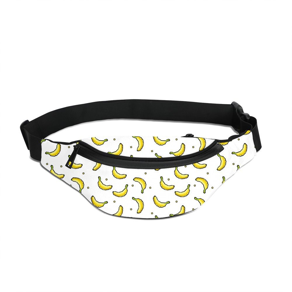 Banana Fruit Running Waist Bag Men Print Your Own Design Hip Belt Fanny Pack  Women Phone Zipper Pouch Unisex Chest Bag