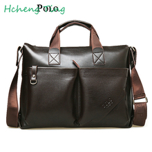 Men Briefcase  POLO Men Handbags   Shoulder Messenger Bag Crossbody Bag Travel Bag Leather Laptop Bag
