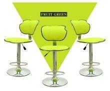 КТВ бар стул ресторан отеля зеленый цвет стул розничная оптовая бесплатная доставка