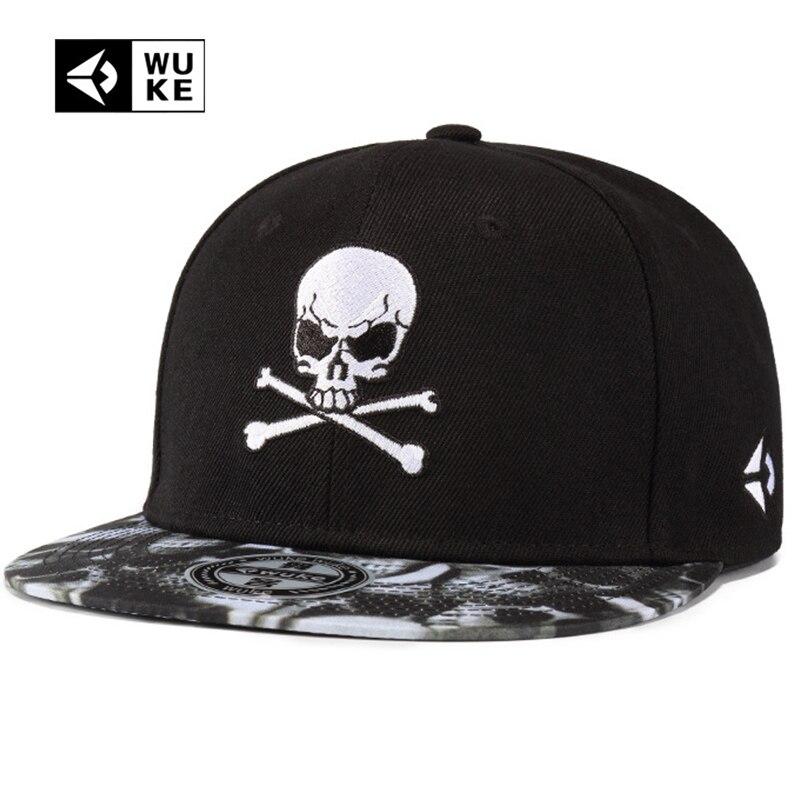 Nueva gorra de béisbol de calavera bordada para hombres y mujeres Punk Hip  Hop Snapback sombrero df43fea8498