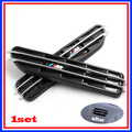 M STICKER FIT for BMW X1 X3 X5 E60 E39 E34 E28 525 M 3 5 FENDER SIDE VENT GRILL GRILLE 3M TAPE 2PCS/SET