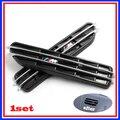 M adesivo apto para BMW X1 X3 X5 E60 E39 E34 E28 525 M 3 5 FENDER lateral de ventilação grade da grade 3 M fita 2 pçs/set