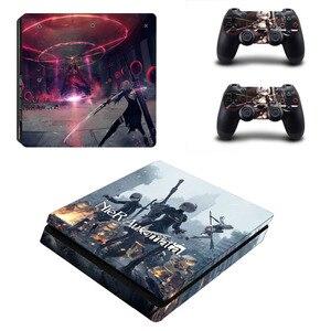 Image 4 - เกม Nier Automata PS4 Slim สติกเกอร์สติกเกอร์ผิวสำหรับ Sony PlayStation 4 คอนโซลและคอนโทรลเลอร์ผิว PS4 Slim SKINS สติกเกอร์ไวนิล
