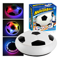 18cm de energia do ar disco de futebol interior brinquedo música colorida luz piscando bola brinquedos crianças jogo esporte do miúdo educacional presente