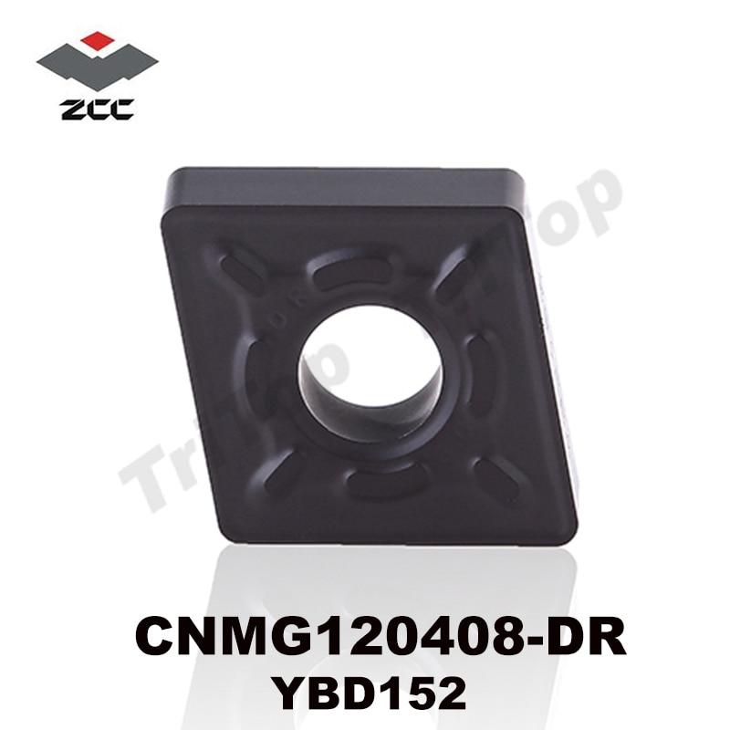 TASUTA SAATAMINE CNMG120408 -DR YBD152 ORIGINAL ZCC.CT Tsementeeritud karbiid negatiivse keeratava sisuga plaat kiip cnc TOOL lõikur