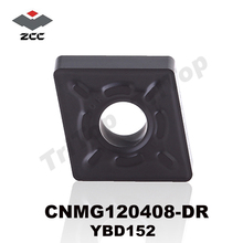 FREE SHIPPING CNMG120408 -DR YBD152 ORIGINAL ZCC.CT CEMENTED CARBIDE negative turning insert plate chip cnc TOOL cutter