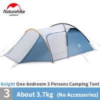 Nature randonnée chevalier UPF50 + Camping tente extérieure Double couche une chambre un hall auto-conduite famille tente imperméable pique-nique voyage
