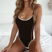 XEVMONI New Summer Ladies HL Bandage Bodysuits Sexy Bodycon Swimwear Beachwear