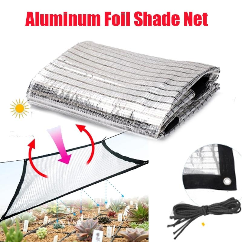 Светоотражающая сетка из алюминиевой фольги для защиты от солнца, серебристого или белого цвета