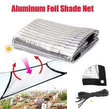 Malla de sombra de aluminio reflectante, protector solar blanco y plateado, para balcón, habitación solar, jardín, invernadero, protección solar