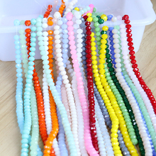 300PCS/LOT Crystal Beads 3x4mm Rondelle Glass Charmly Clear Created DIY Jewelry Faceted Spacer