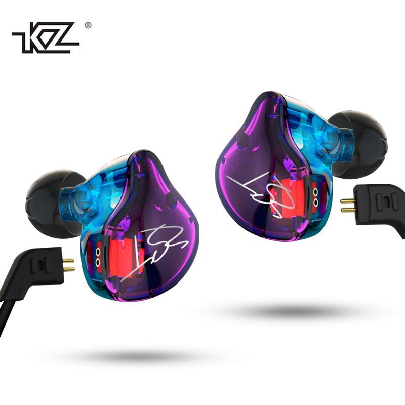 Original KZ ZST DIY Armature Dual-Driver Earphone Detachable In Ear Monitors Noise Isolating Earbuds HiFi Music Sports Headsets наушники kz zst armature со встроенным микрофоном