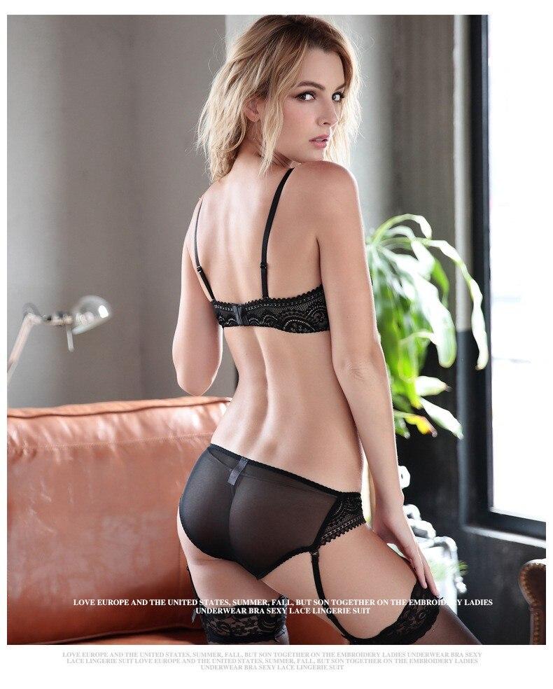 47e6ffcb5438 New Lace Bra Brief Sets Plus Size Women Sexy Underwear Set Transparent Bra  Set VS Secret Brand Intimates Ultra Slim Lingerie SetUSD 11.98/set