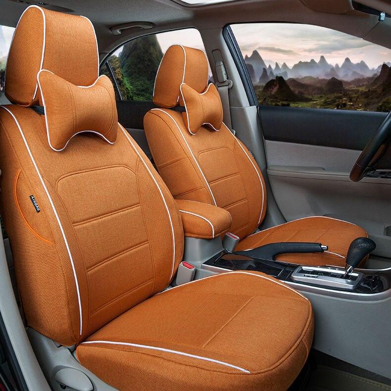 Online Shop Automobile Interior Accessories Linen Car Seat Covers Mats For Agila Vectra Zafira Astra GTC PAGANI ZONDA SAAB Spyker RAM HUMMER