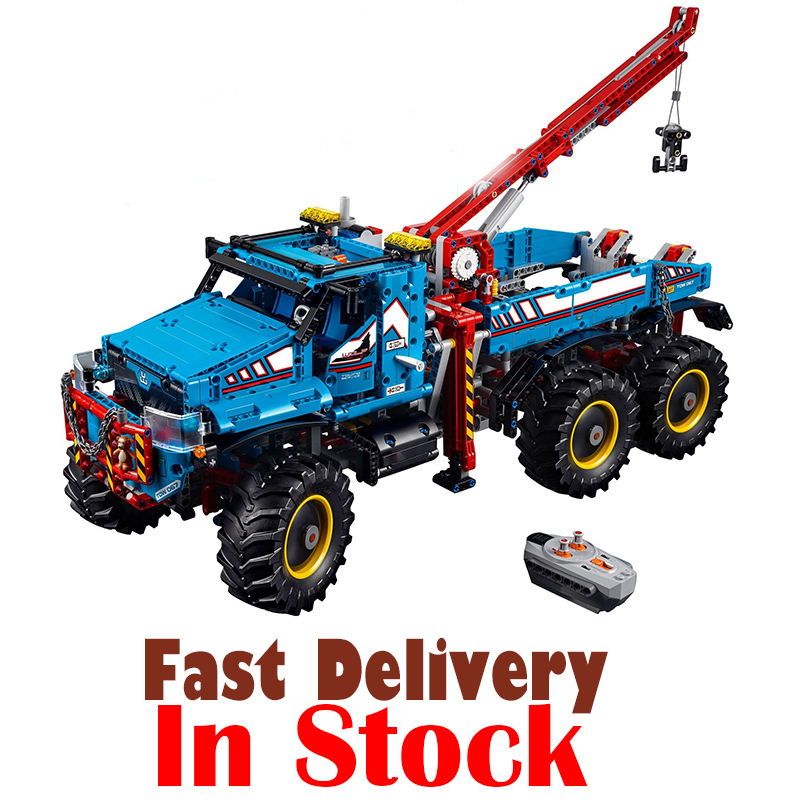 LEPIN 20056 All Terrain Tow Truck Technic Building Blocks Bricks Toys Educational For Children brinquedo 1912PCS legoINGly 42070