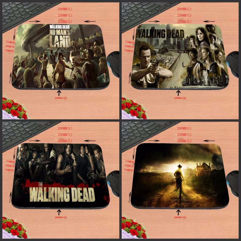 Top Selling Retro Funny Pture The Walking Dead With Box Packed Rubber Aming Gaming Mouse Pad 180x220x20mmAnd 29*25cm And 20*25cm