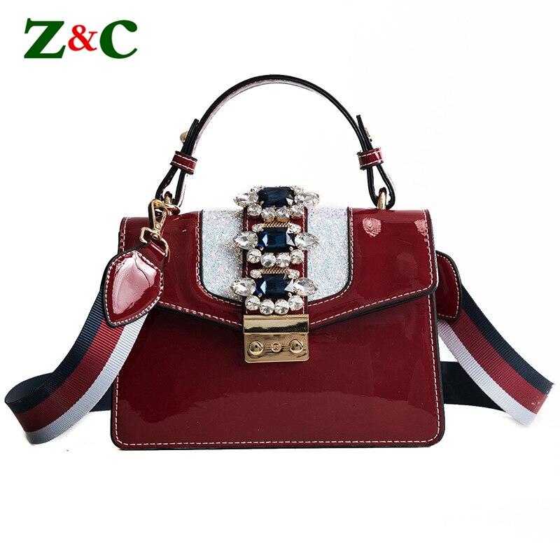 New Luxury Handbag Women Bags Designer Fashion Diamond Locks Shoulder Crossbody Bag Female Flap Leather Tote Wide Colorful Strap