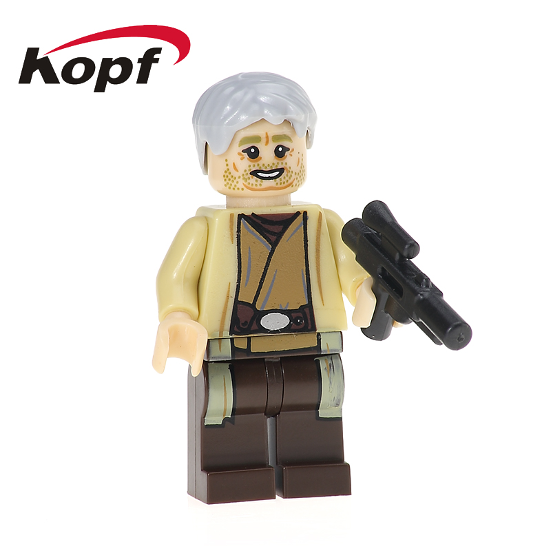 Owen Lars Naare Mandalorian Kylo Ren Stormtrooper Turk Falso Building Blocks Star Wars Model Bricks Toys for children Gift PG724