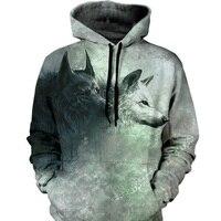 Animal Wolf Hoodies Men Women 3d Sweatshirts Print Fashion Hoody Unisex Hooded Tracksuits Tops Large Size