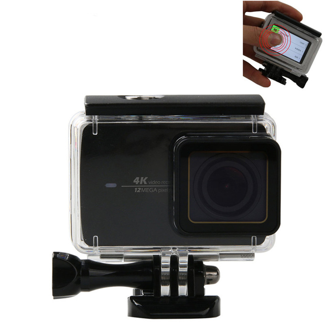 Action Camera Waterproof Case for Xiaomi Yi 4k w/ Touch Screen 45m Diving Case For Xiaomi YI 4K Protector Housing Case