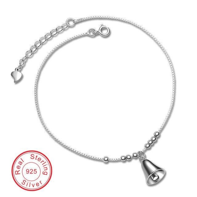 Jingle bell Cadena y del Acoplamiento Pulsera Genuino 100% S925 Solid silver mujeres pulseras regalos de boda para las mujeres joyería fina VCYD009