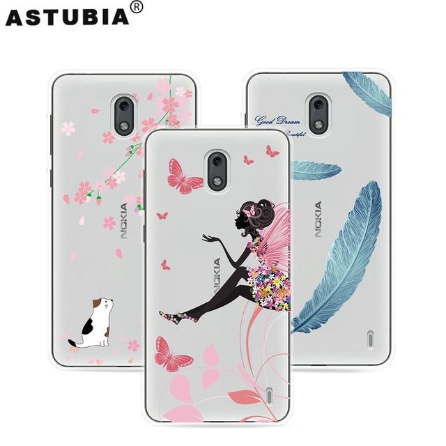 new style 69060 6d864 US $1.24 13% OFF|ASTUBIA Phone Case For Nokia 2 Case Cover For Nokia 2 Case  Silicone Transparent Sketch Flower Pattern Shell For Nokia2 5.0 Cover-in ...