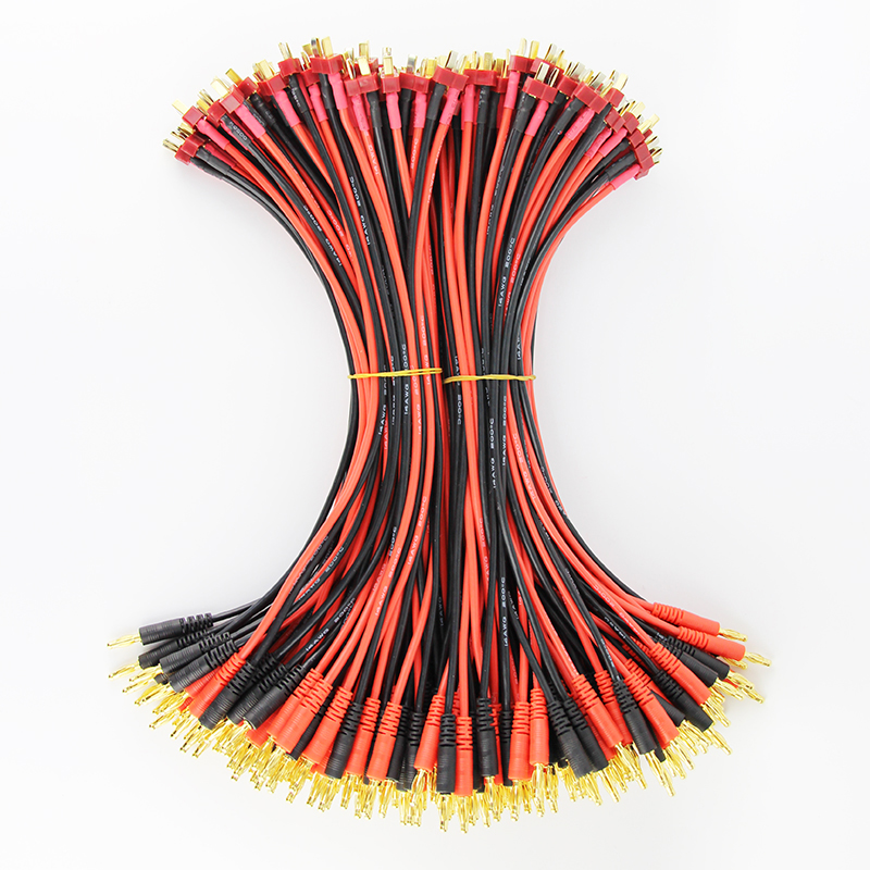 50pcs 100pcs 30cm 14awg DEANS ULTRA Male Plug to 4mm Bullet Banana Battery Charger Charging Leads